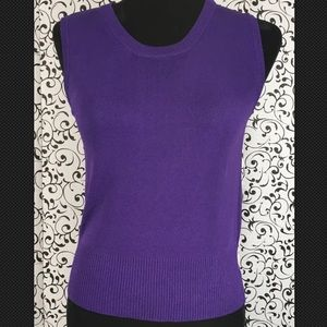 Joseph A. Purple Tank Top